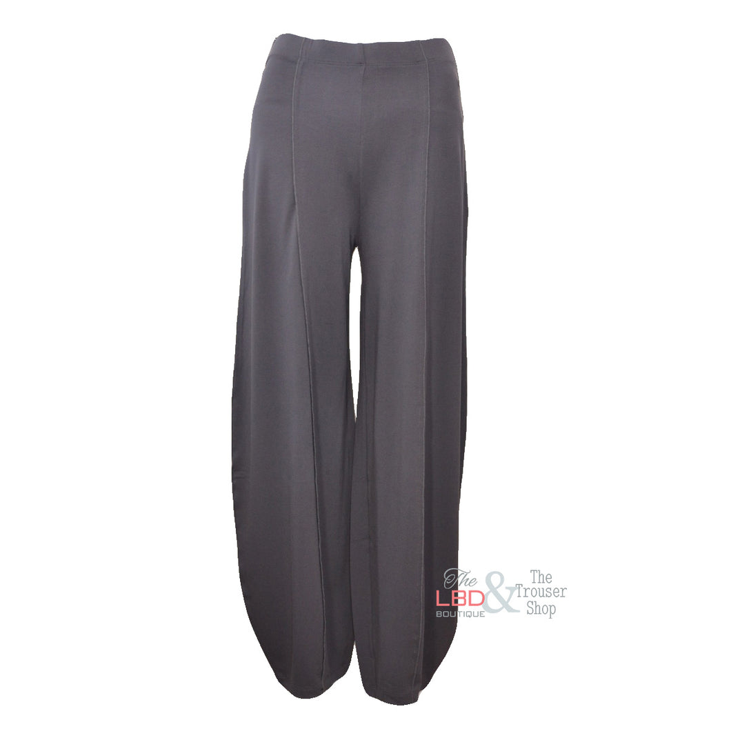 Naya Wide Leg Ankle Trousers in Black or Steel Grey | The LBD Boutique & Trouser Shop