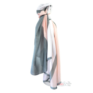 SED Pastel Pink & Grey Abstract Print Silk Scarf | The LBD Boutique & Trouser Shop