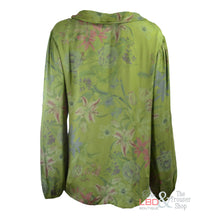 N & Willow Lily Print Green L/S Top - Clearance | The LBD Boutique & Trouser Shop