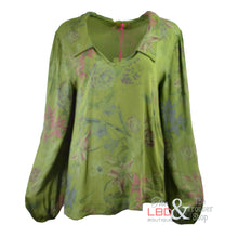 N & Willow Lily Print Green L/S Top | The LBD Boutique & Trouser Shop