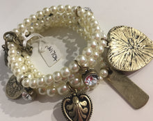 Chunky White Bead & Love You Heart Charm Bracelet | The LBD Boutique & Trouser Shop