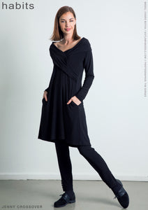 Habits Jenny Crossover Black Tunic Dress | The LBD Boutique & Trouser Shop