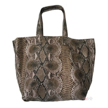 Street Level Brown Faux Snakeskin Tote Bag | The LBD Boutique & Trouser Shop