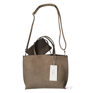 Street Level Taupe Mini Tote | The LBD Boutique & Trouser Shop