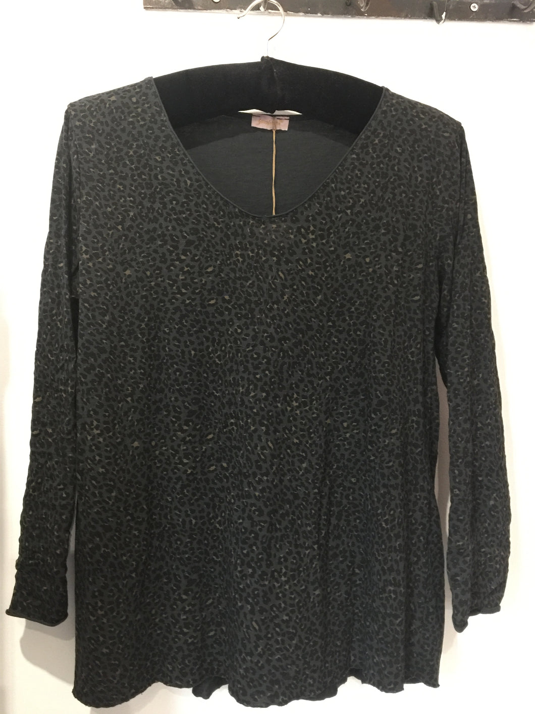 Goose Dark Grey Animal Print Top | The LBD Boutique & Trouser Shop