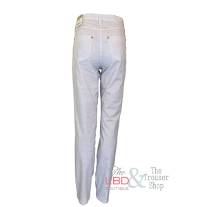 Michele Light Grey Print Trousers -  UK 18 ONLY | The LBD Boutique & Trouser Shop