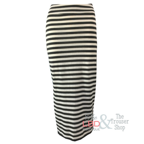 Mama B Lilla Riga Striped Skirt in Chalkboard and White | The LBD Boutique & Trouser Shop