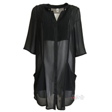 Que Black 3/4 Sleeve Shirt Dress Size 14 ONLY | The LBD Boutique & Trouser Shop