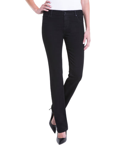 Liverpool Sadie Classic Straight Black Jeans | The LBD Boutique & Trouser Shop