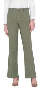 NYDJ Wyle Linen Trousers in Green Size UK 8 Only | The LBD Boutique & Trouser Shop