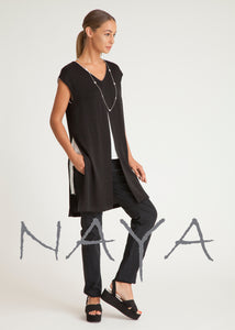 Naya Black and White Tabard Tunic NAS19185 | The LBD Boutique & Trouser Shop