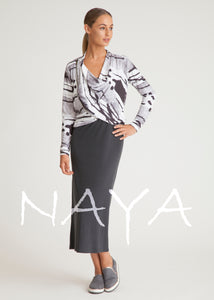 Naya Abstract Print Cardi Jacket NAS19262 | The LBD Boutique & Trouser Shop