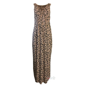 Assign Twist Front Maxi Dress in Animal Print | The LBD Boutique & Trouser Shop