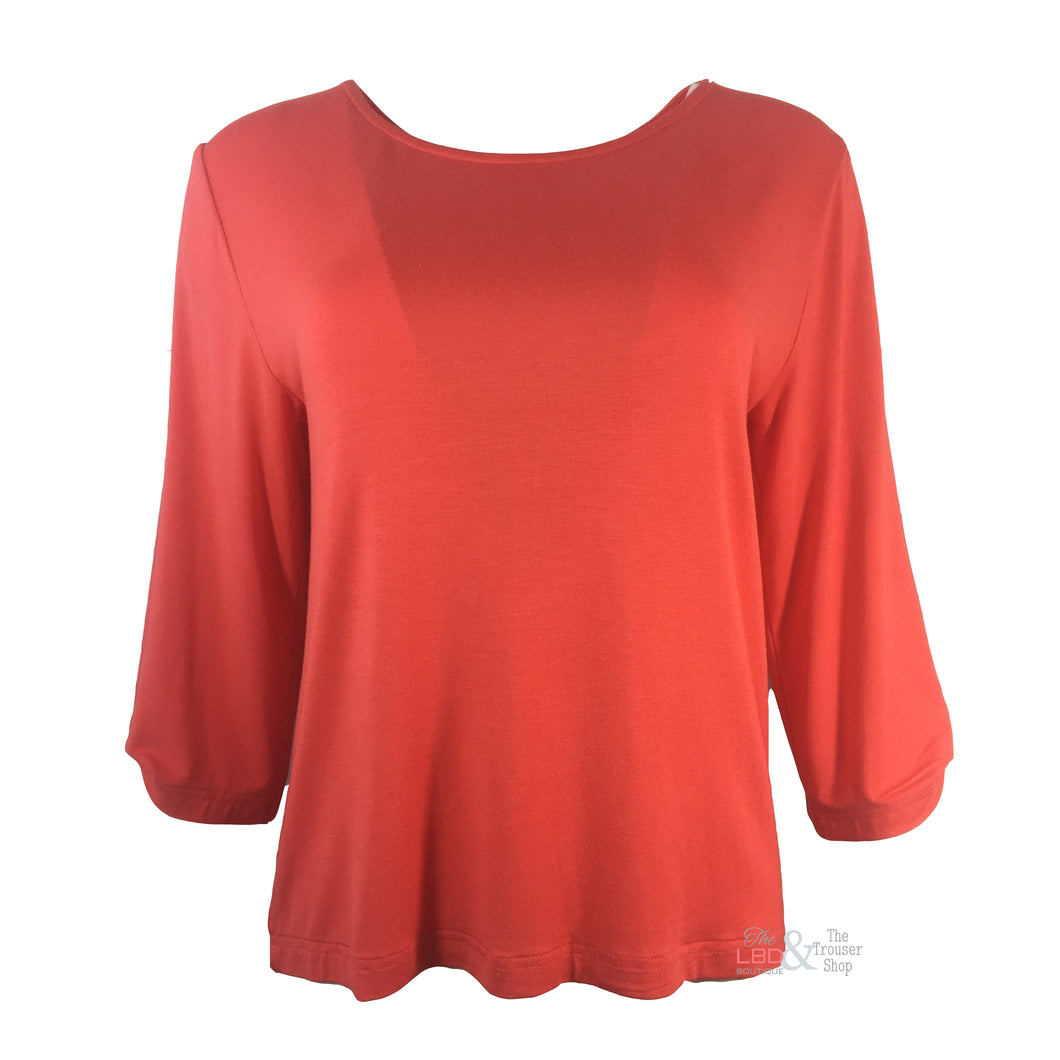 Assign Pretty Coral Top 10850 | The LBD Boutique & Trouser Shop