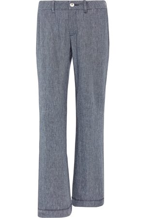 NYDJ Wide Leg Blue Linen Trousers - Size UK 10 or 12 ONLY | The LBD Boutique & Trouser Shop