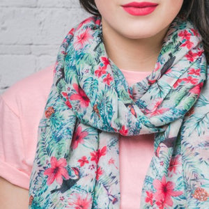 F & J Davina White Vintage Floral Scarf | The LBD Boutique & Trouser Shop