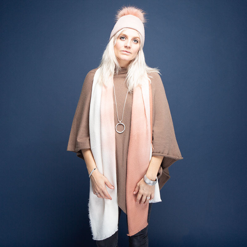 Tilley & Grace Denver Dusky Pink Ombre Scarf | The LBD Boutique & Trouser Shop