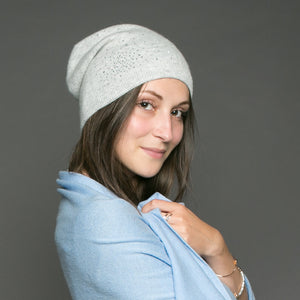 Tilley & Grace Heidi Light Grey Beanie