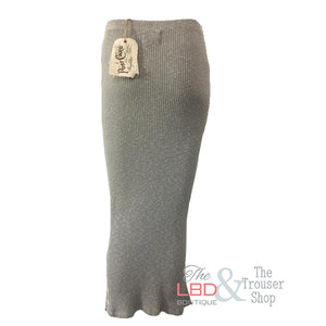 APFB Grey Ribbed Stretch Skirt | The LBD Boutique & Trouser Shop