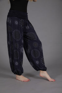 Goose Black Flower Print Harem Trousers | The LBD Boutique & Trouser Shop