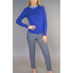 Deck by Decollage Royal Blue Pearl & Sparkle Jumper | The LBD Boutique & Trouser Shop