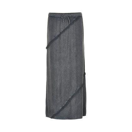 Cream Melia Maxi Skirt in Grey | The LBD Boutique & Trouser Shop