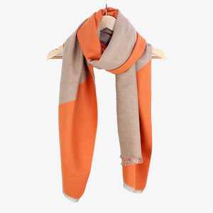 Tilley & Grace Nebraska Orange Geo Scarf