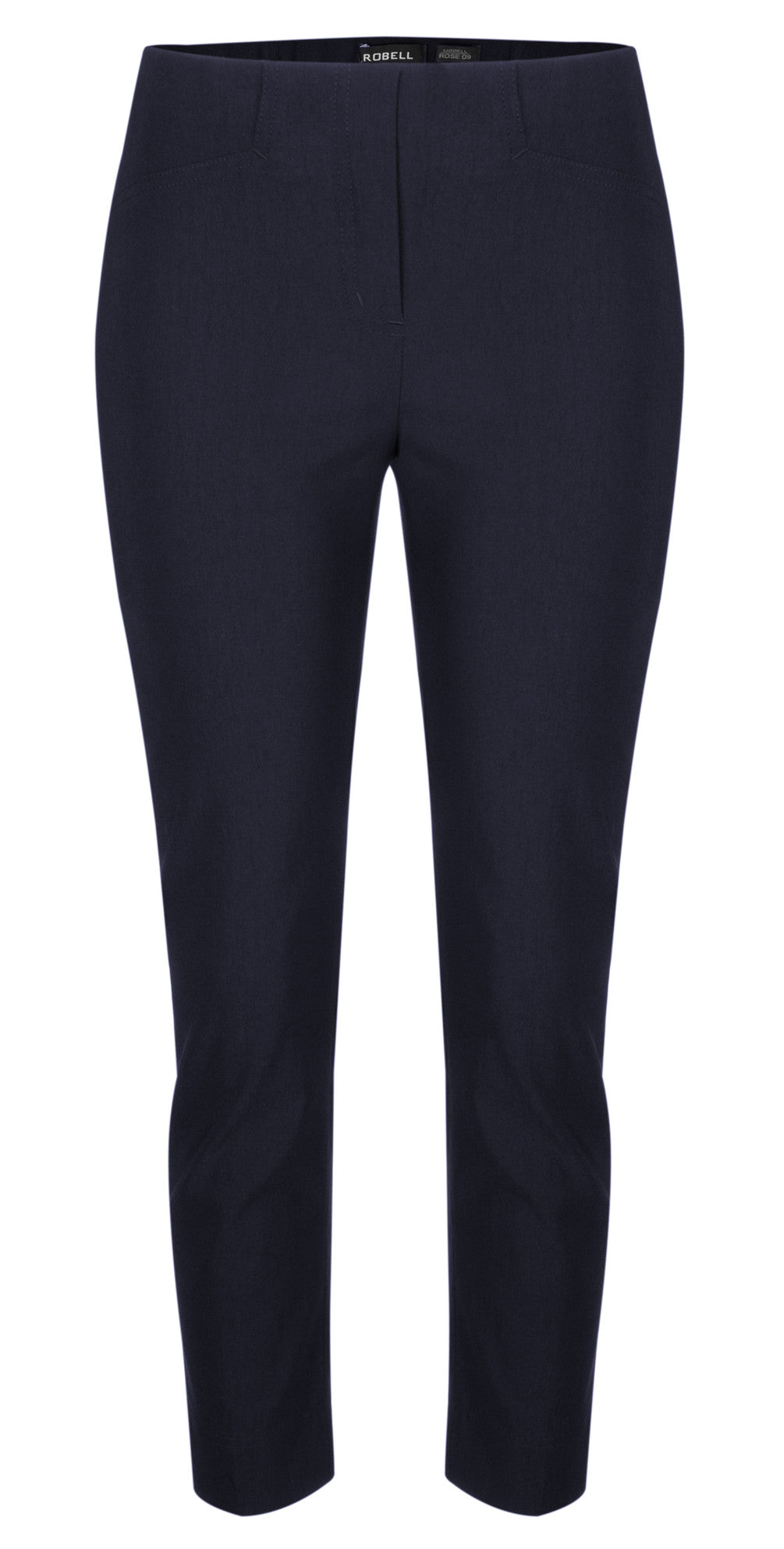 Robell Rose 09 Navy Blue Ankle Trousers | The LBD Boutique & Trouser Shop