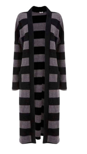 SuzyD Chenille Striped Long Cardi | The LBD Boutique & Trouser Shop