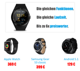 Smart Watch X7: Die intelligente Uhr mit 20 Funktionen!