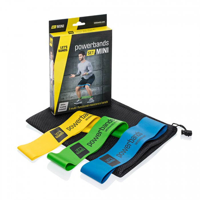 Let's Bands Powerbands Set Mini Resistance Bands