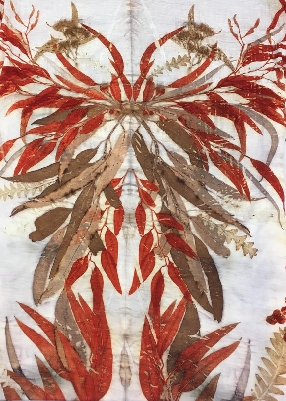 Sylvia Riley Ecoprint natural dye eucalyptus