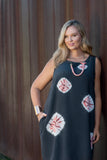 Rhombus dress - shibori