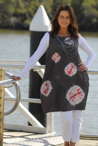 Shibori dress by Sylvia Riley