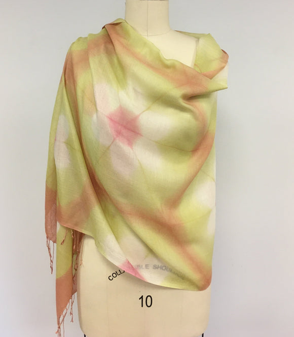 Shibori wrap by Sylvia Riley