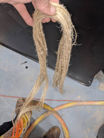 Hemp wire cable rope