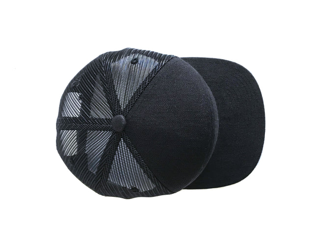 HEMPZOO Eco-friendly hemp and recycled mesh sustainable trucker hat made by Flexfitmesh