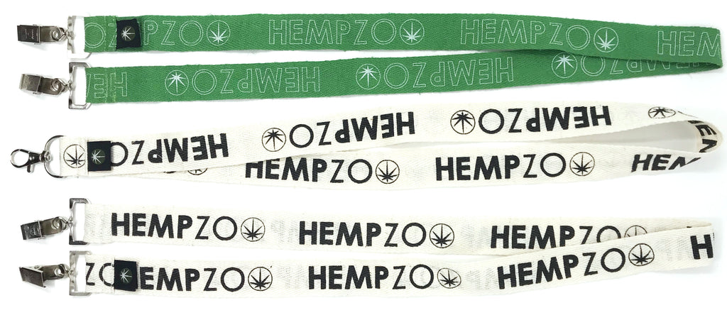 HEMPZOO Eco Friendly Natural Hemp Lanyards