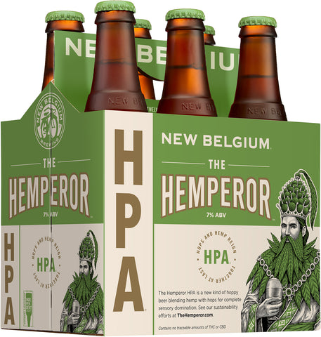 New Belgium Brewing The HEMPEROR HPA hemp hops beer