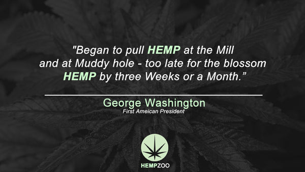 Famous cannabis hemp quotes George Washington