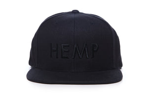HEMPZOO HEMP BLACK KIND CAP - HEMPZOO Sustainable organic hemp cannabis clothing hats accessories