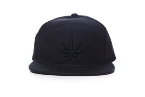 HEMPZOO BLACKOUT LEAF ARCH CAP - HEMPZOO Sustainable organic hemp cannabis clothing hats accessories