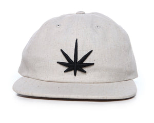HEMPZOO BLACK LEAF DAD CAP - HEMPZOO Sustainable organic hemp clothing hats accessories