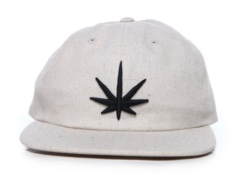 HEMPZOO BLACKOUT LEAF DAD CAP - HEMPZOO Sustainable organic hemp cannabis clothing hats accessories