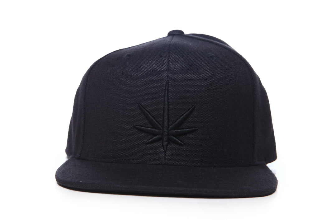 HEMPZOO BLACK LEAF KIND CAP - HEMPZOO Sustainable organic hemp clothing hats accessories