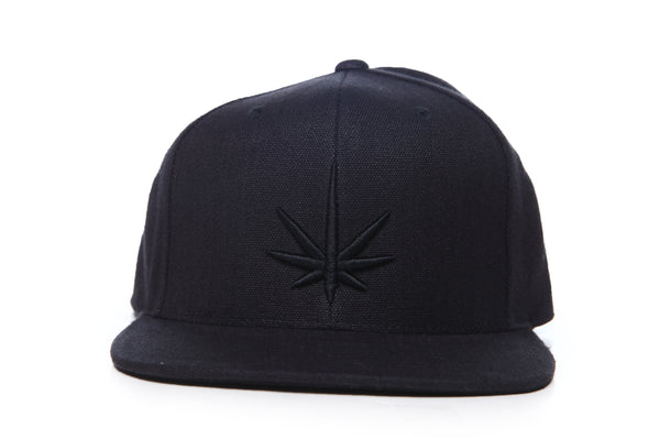 HEMPZOO BLACK LEAF KIND CAP - HEMPZOO Sustainable organic hemp cannabis clothing hats accessories