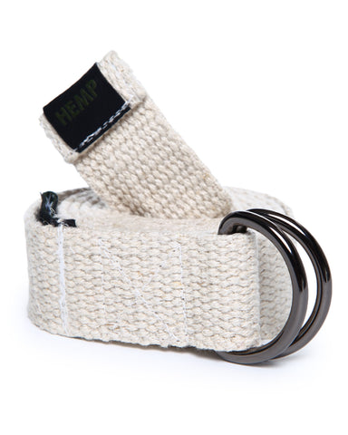 HEMP BONE D-RING BELT - HEMPZOO Sustainable organic hemp cannabis clothing hats accessories