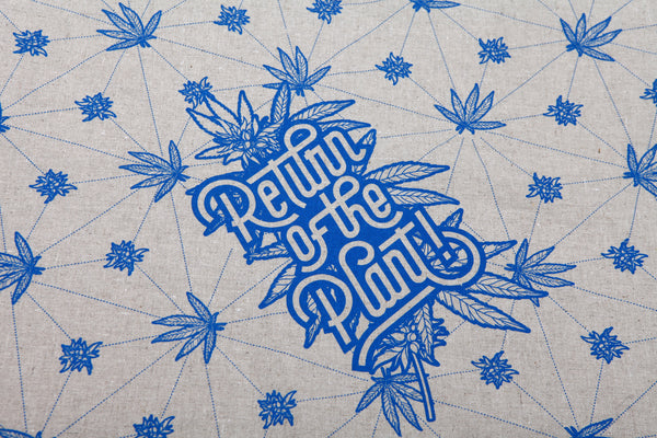 "HEMP BANDANA ""RETURN OF THE PLANT"" - HEMPZOO Sustainable organic hemp cannabis clothing hats accessories"