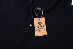 HEMP ZIP UP HOODIE ARMOR - HEMPZOO Sustainable organic hemp cannabis clothing hats accessories