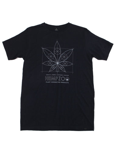 HEMPZOO BLUEPRINT HEMP T-SHIRT ARMOR - HEMPZOO Sustainable organic hemp cannabis clothing hats accessories